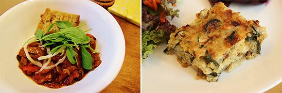 Rosemary skillet cornbread and quinoa and squash gratin