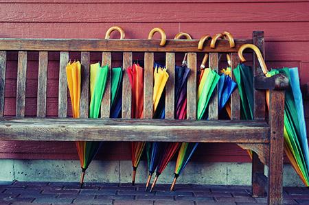 Retreat Center umbrellas