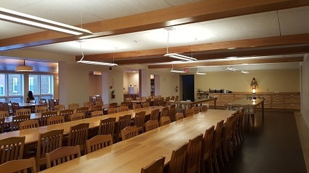 Renovated Retreat Center Dining Room