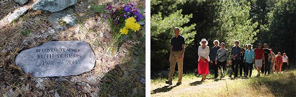 Memorial Stone for Ruth Denison