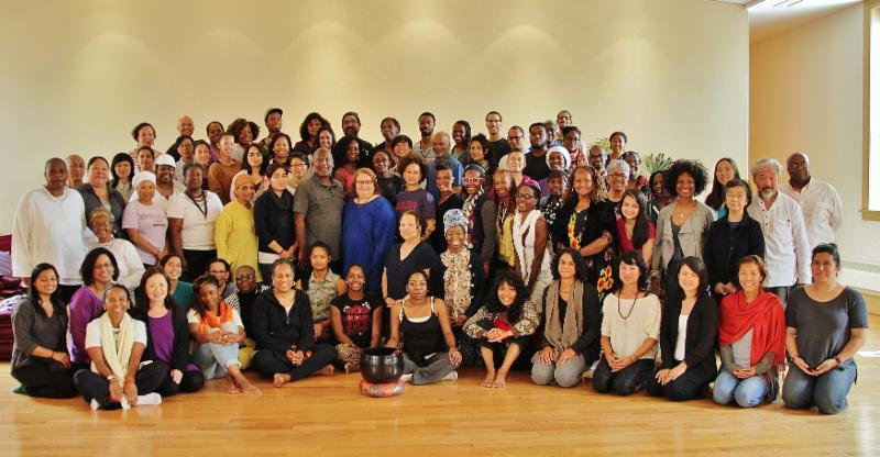 People of color retreat group photo