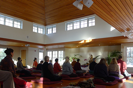 Forest REfuge meditation hall
