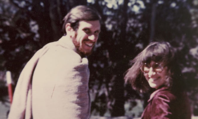 Joseph Goldstein and Sharon Salzberg in India, 1970s.