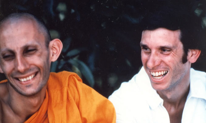L to R: Jack Kornfield and Joseph Goldstein. Jack ordained twice in Thailand with Ajahn Chah.