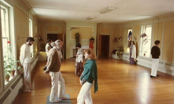 Walking meditation, 1976.