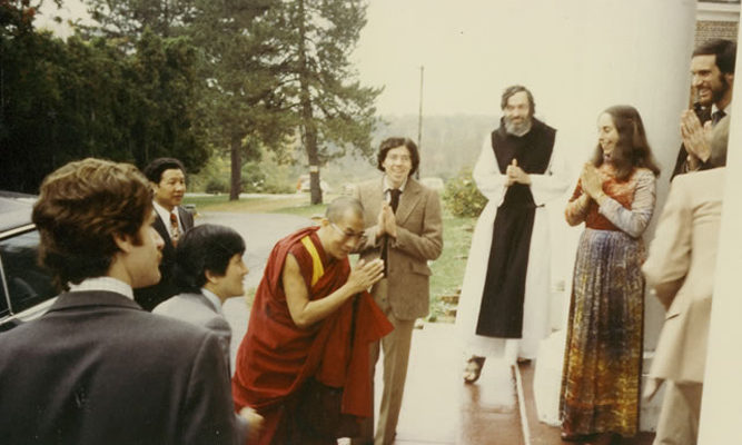IMS welcomes His Holiness the Dalai Lama to the center in 1979.