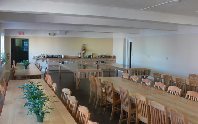 The Retreat Center dining room got new dining tables and chairs, 2008.