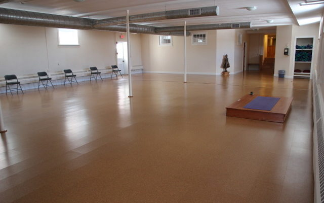 The lower walking room at the Retreat Center was renovated in 2009.