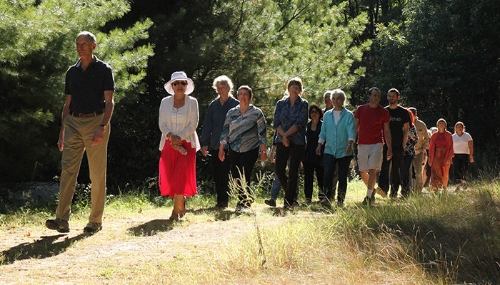 On September 15, 2015, IMS held a ceremony at the Memorial Wall at the Forest Refuge to honor Ruth Denison's life and contributions to Western Buddhism.