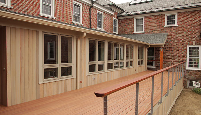 Another upgrade to the Retreat Center dining room involved the construction of an outdoor deck.