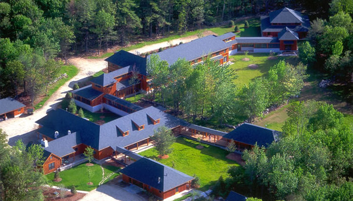 Aerial of the Forest Refuge.