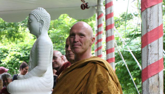 Ajahn Sucitto led a blessing ceremony together, with other visiting monastics, at the 30th anniversary event.