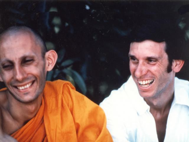 1 06 L to R: Jack Kornfield and Joseph Goldstein. Jack ordained twice in Thailand with Ajahn Chah.