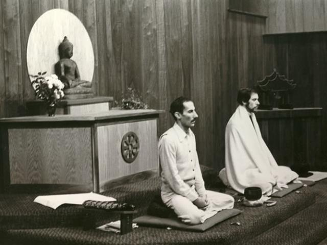 1 27 Jack Kornfield and Joseph Goldstein teaching in the meditation hall.