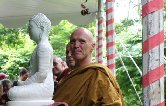 3 27 Ajahn Sucitto led a blessing ceremony together, with other visiting monastics, at the 30th anniversary event.